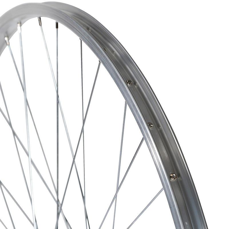 Wheel 28_QUOTE_ Rear Single Wall Rim Freewheel V-Brake Screw Hybrid Bike - Silver