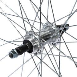 """Achterwiel hybride fiets 28"""" zilverkleurig - 1043152"""