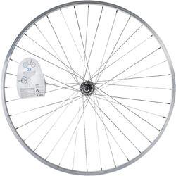"""Achterwiel hybride fiets 28"""" zilverkleurig - 1043153"""