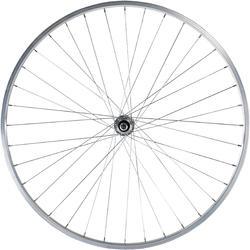 """Achterwiel hybride fiets 28"""" zilverkleurig - 1043154"""
