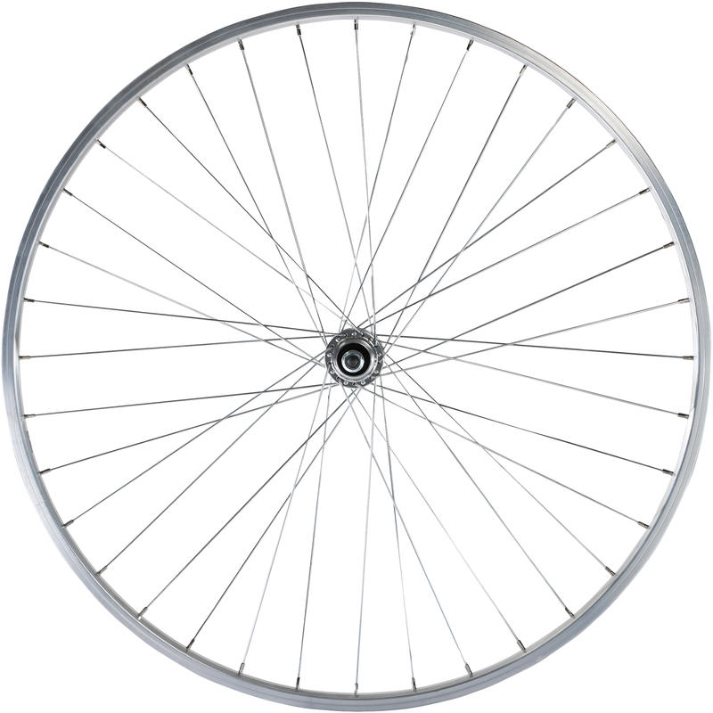 Wheel 28_QUOTE_ Rear Single Wall Rim Freewheel V-Brake Screw Hybrid Bike - Silver