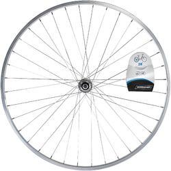 """Achterwiel hybride fiets 28"""" zilverkleurig"""