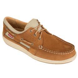 Zapatos náuticos de cuero para hombre CLIPPER marrón claro