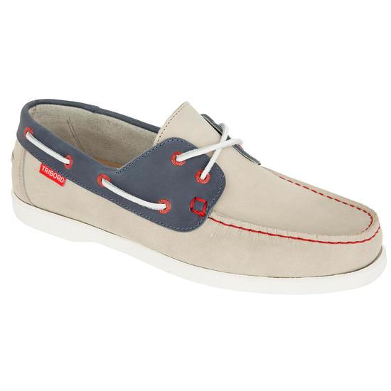 Leren bootschoenen CR500 voor heren donkerbruin - 1043358