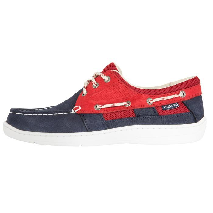 Zapatos náuticos de cuero para hombre CLIPPER azul rojo 8b3121fe508