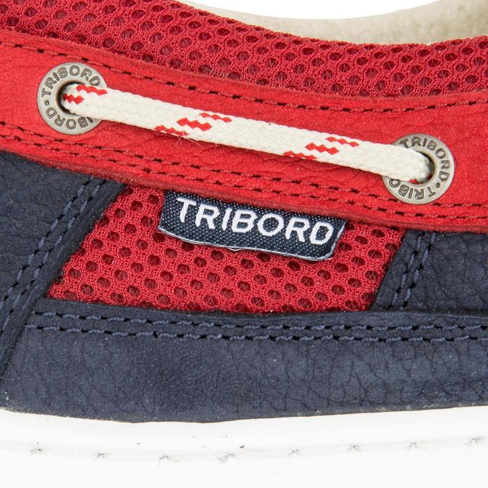 Zapatos náuticos de cuero para hombre CLIPPER azul rojo 26f02368125