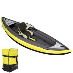 Kayak gonflable 1 place ITIWIT 1 jaune