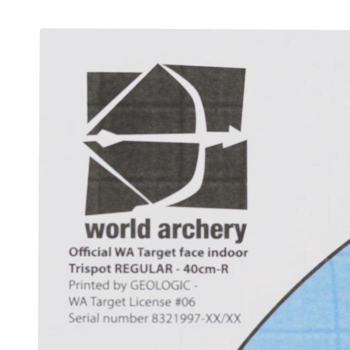 Blazoen voor boogschieten tri-spot universeel 40 cm - 1043885
