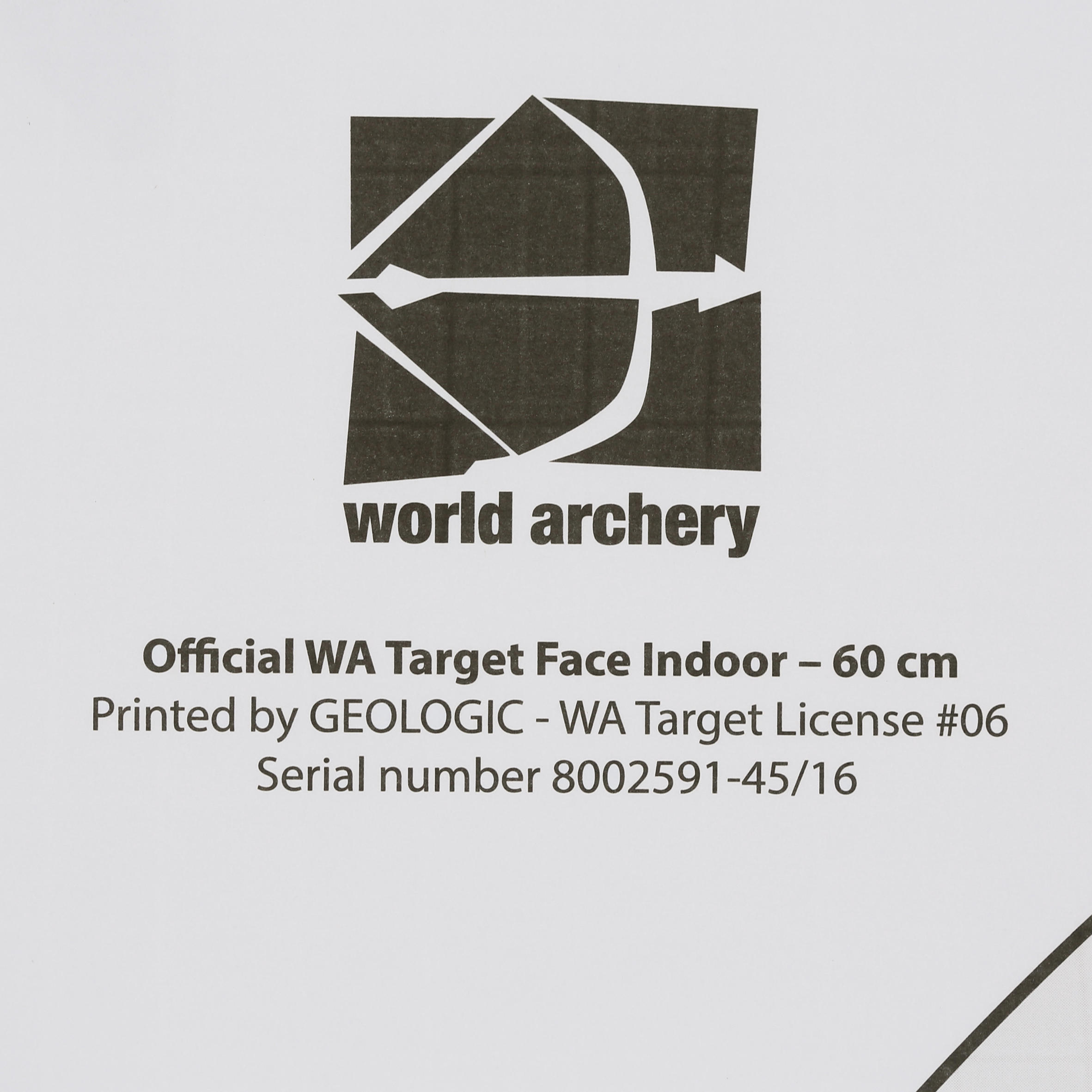 ARCHERY TARGET FACE 60 X 60 CM
