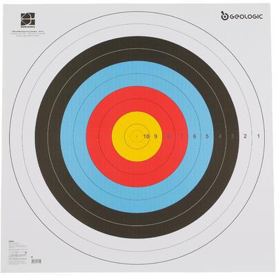 BLASON TIR A L'ARC 80 X 80 CM
