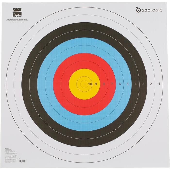 Blazoen boogschieten 80x80cm - 1043915
