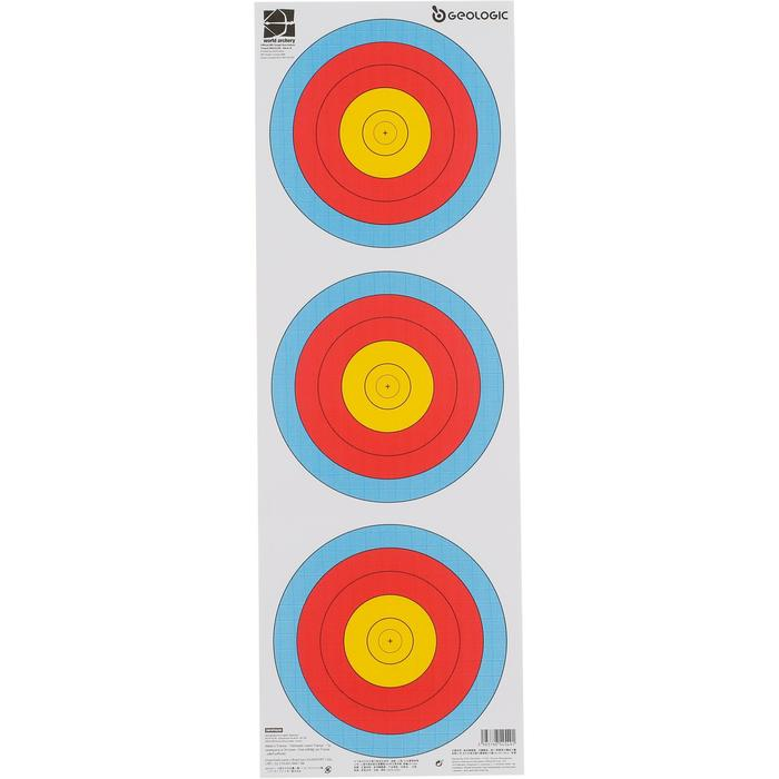 Blazoen voor boogschieten tri-spot universeel 40 cm - 1043920