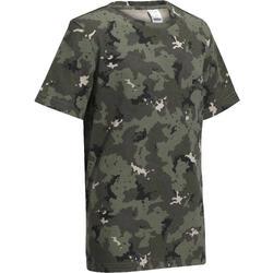 T-shirt de Caça Manga Curta Criança 100 Camuflado Island