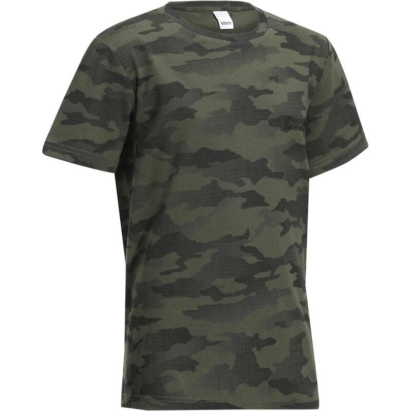 Kids' Short-Sleeved T-Shirt - Half-Tone Green Camo