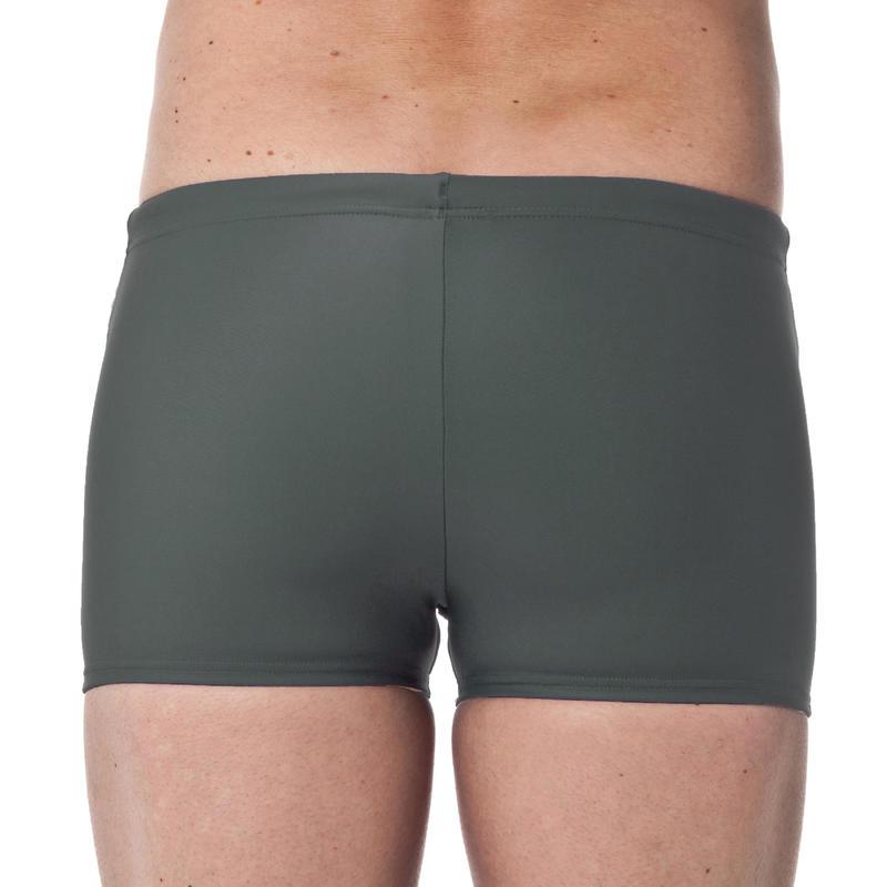 กางเกงว่ายน้ำบ็อกเซอร์สำหรับผู้ชายรุ่น 100 (สีเทา BASIC)
