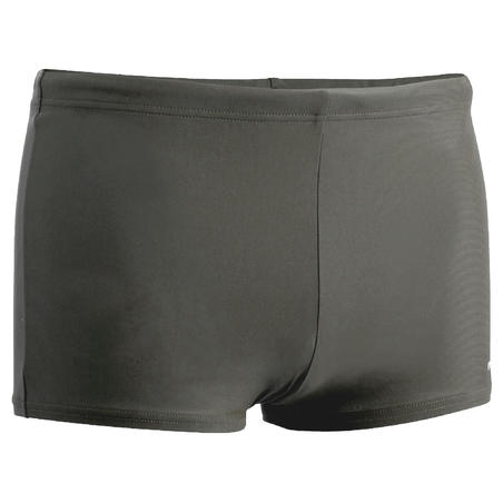 MEN'S SWIMMING BOXERS SHORTS 100 BASIC - GREY