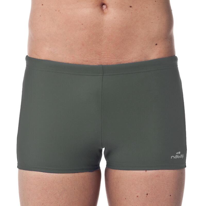 Pánské plavky Boxer 100 Basic šedé