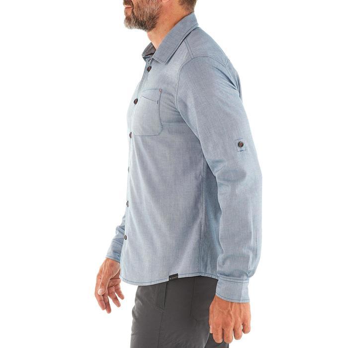 Chemise TRAVEL 100 warm homme bleu