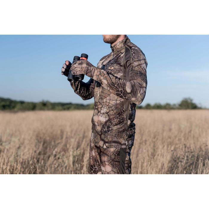 Ademend geluidloos camouflageshirt voor de jacht 500 merinowol Furtiv