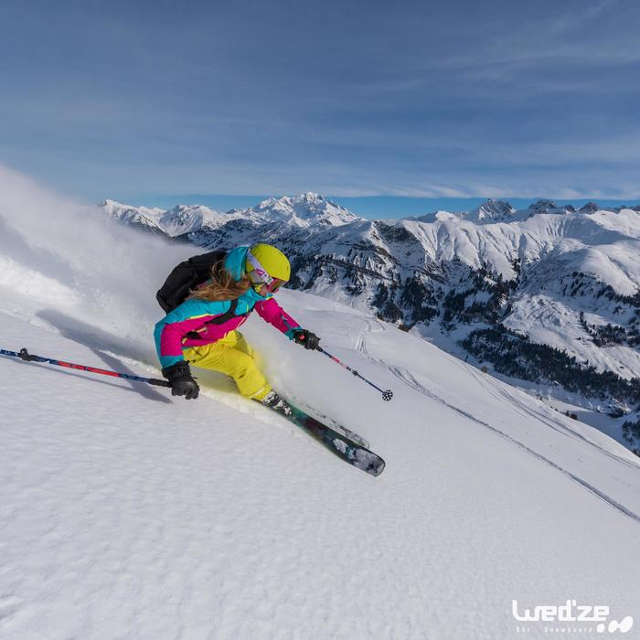 Gants de ski femme FREE 500 noirs - 1045119