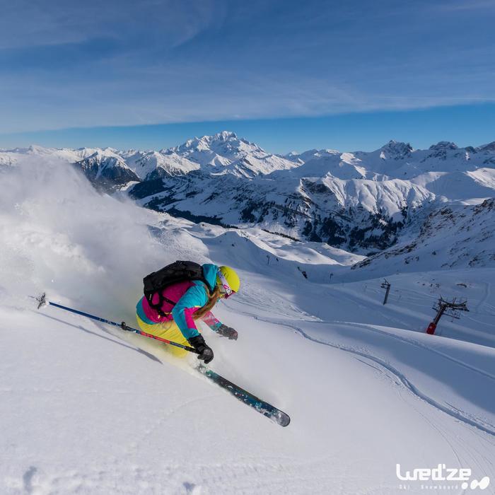 Gants de ski femme FREE 500 noirs - 1045128