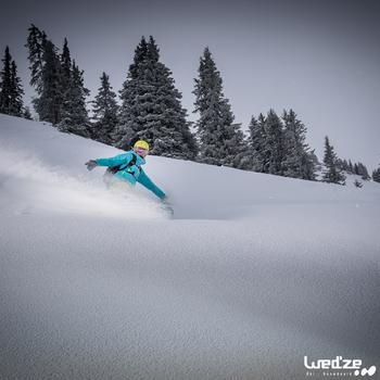 MASQUE DE SKI ET DE SNOWBOARD HOMME BONES 500 BEAU TEMPS GRIS-18 - 1045129