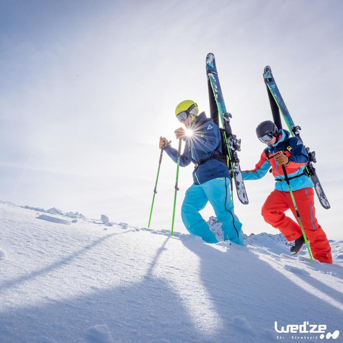 Skihandschoenen Free 500 voor heren bruin - 1045132