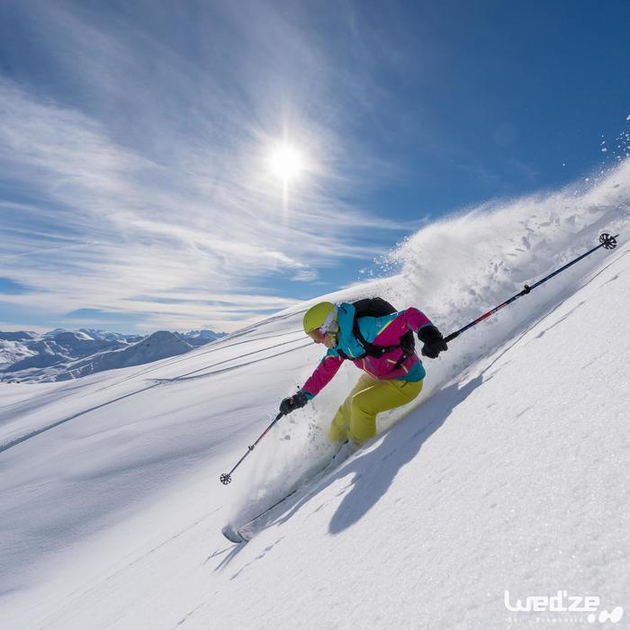 Gants de ski femme FREE 500 noirs - 1045133