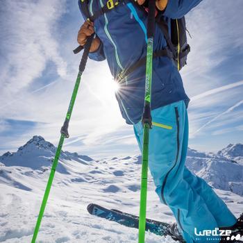 Skihandschoenen Free 500 voor heren bruin - 1045137