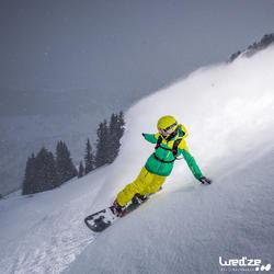 Pack snowboard all mountain dames Serenity 500 Carve zwart en groen - 1045143