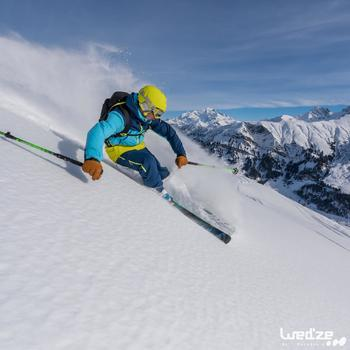 Skihandschoenen Free 500 voor heren bruin - 1045154
