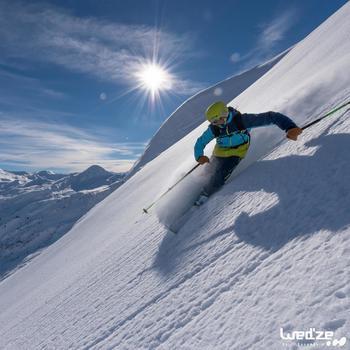 Skihandschoenen Free 500 voor heren bruin - 1045164