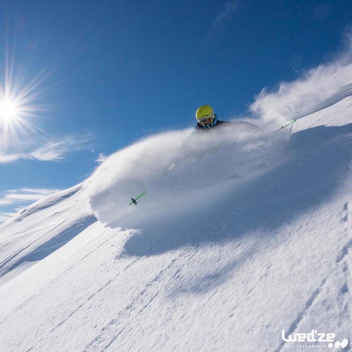 Skihandschoenen Free 500 voor heren bruin - 1045168