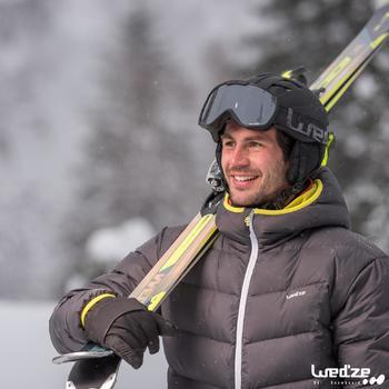 Abrigo Chaqueta Plumón Nieve y Esquí Wed'ze 500 Warm Hombre Gris