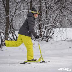 Opklapbare sneeuwstep voor kinderen Snow Kick blauw