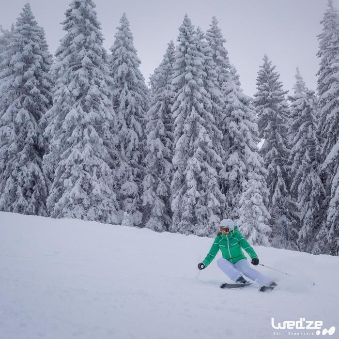 成人滑雪安全帽H 300,白色
