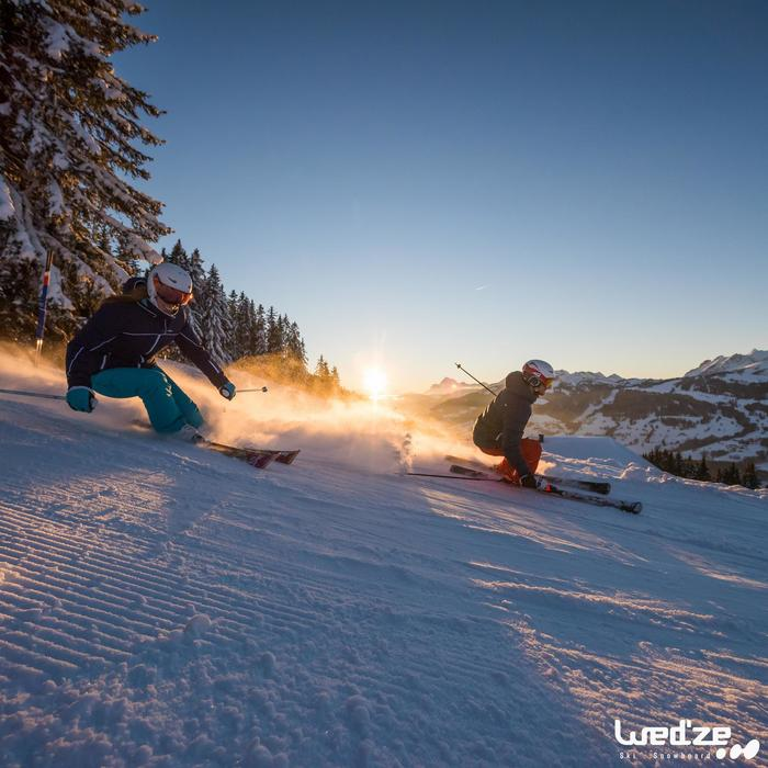 Skijacke Daunen Slide 300 Warm Herren marineblau