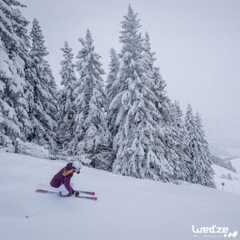 Veste ski femme Slide 300 grise - 1045229
