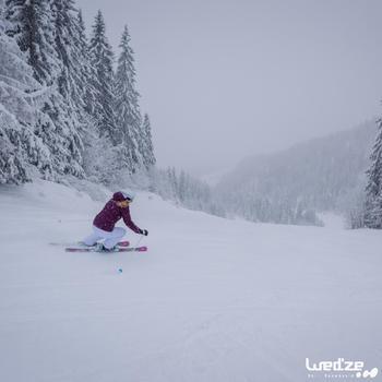 Veste ski femme Slide 300 grise - 1045234