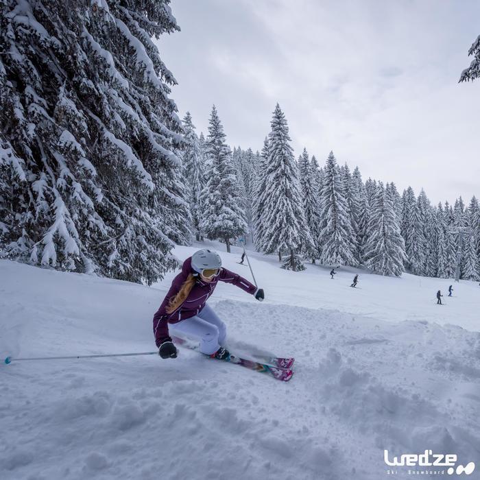 女款下坡滑雪靴WID 700 - 黑色