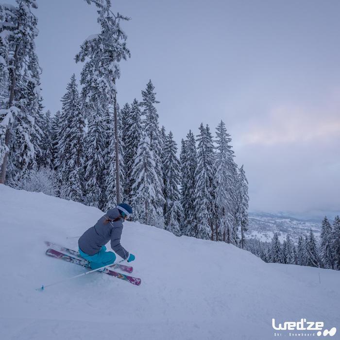 Veste ski femme Slide 300 grise - 1045263