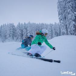 Skischuhe Wid 700 Damen schwarz