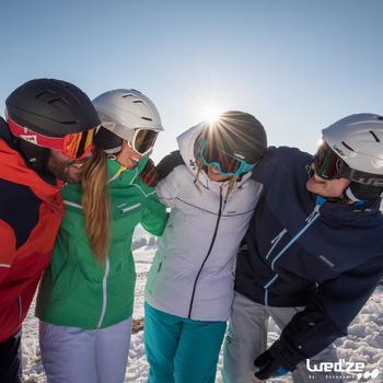 Veste ski femme Slide 500 WARM blanche