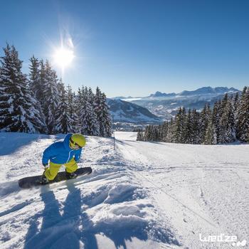 Ski- en snowboardbril volwassenen en kinderen G 500 zonnig weer zwart