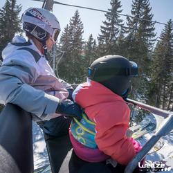 Harnas om te leren skiën, voor kinderen, blauw - 1045306