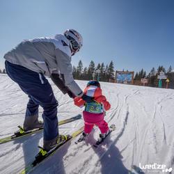 Harnas om te leren skiën, voor kinderen, blauw - 1045315