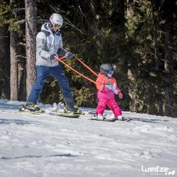 Skijacke Piste 100 Kleinkinder rot