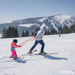 Harnas om te leren skiën, voor kinderen, blauw - 1045319
