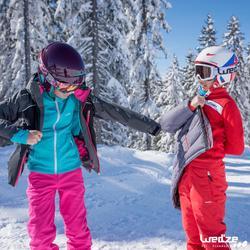 Midlayer voor skiën kinderen Mid Warm 500 paars