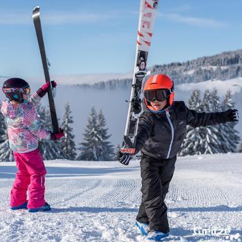 Ski- en snowboardbril volwassenen en kinderen G 120 slecht weer zwart